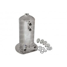2.5L Surge Tank AN-8 Dual Outlet Polished